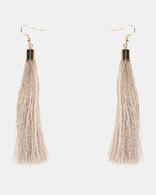Lily & Rose Tassel Earrings Neutral