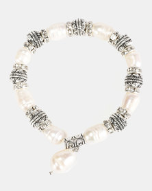 Lily & Rose Fresh Water Pearl Bracelet White and Silver-tone