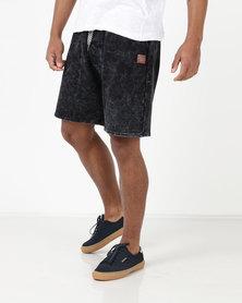 Bolivar Cotton Fleece Shorts Black