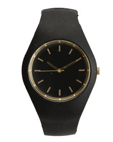 Digitime Slim Resin Watch Black