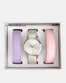Digitime Trio Interchangeable Strap Watch Set Beige