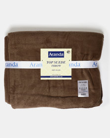 Aranda Medium Top Suede Stitched Throw Brown