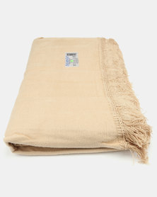 Aranda Medium Top Suede Fringed Throw Gold