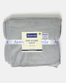 Aranda Medium Top Suede Stitched Throw Grey