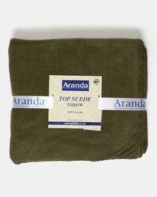 Aranda Medium Top Suede Stitched Throw Green
