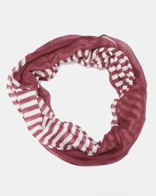 Black Lemon Cotton Knit Snood Red
