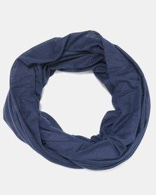 Black Lemon Cotton Knit Snood Blue