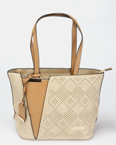 Blackcherry Bag Hand Bag Beige & Tan