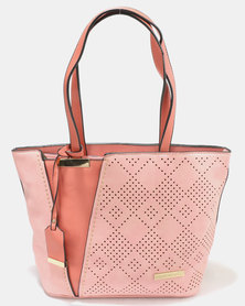 Blackcherry Bag Hand Bag Salmon & Dusty Pink