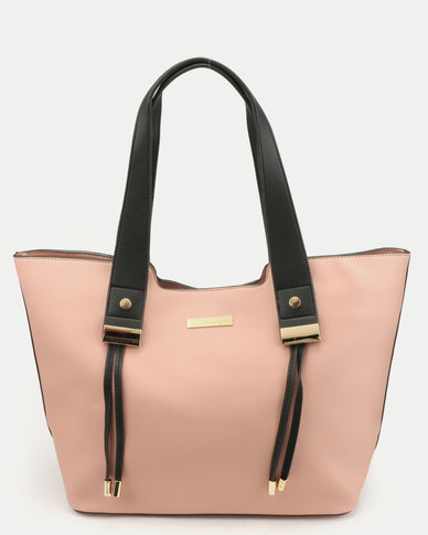 Blackcherry Bag Structured Tote Hand Bag Blush