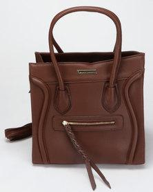 Blackcherry Bag Hand Bag With A Zip Detail Coffee