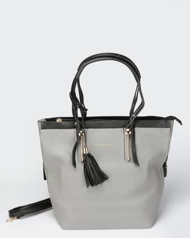 Blackcherry Bag Smart Hand Bag Charcoal Grey