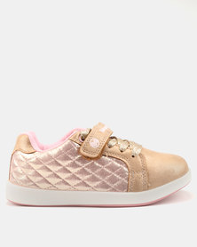 Bubblegummers Girls Casual Sneakers Gold