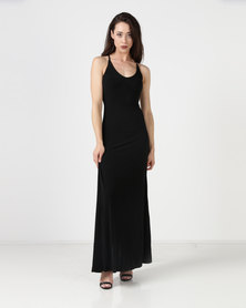 Gallery Clothing Triangle Back Dress With Cups Black