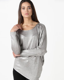 Gallery Clothing Foil Top Silver