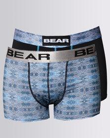 Bear 2 Pack Tribal Zig Zag Bodyshorts Turq/Black