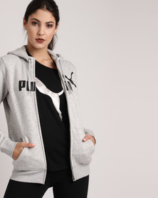 Puma Essential No.1 FZ Hoody FL W Grey