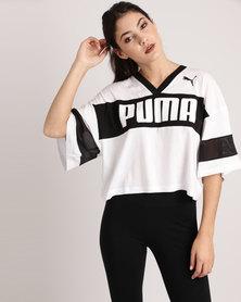 Puma Cropped Tee Black/White