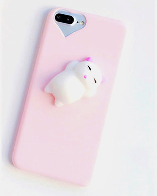 Naked Eyewear Squishy Kitty Cat iPhone 7 Cover Pink