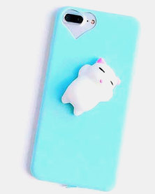 Naked Eyewear Squishy Kitty Cat iPhone 7 Cover Blue