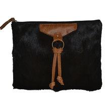 GTHOMAS Sprinbok Hide Clutch Bag