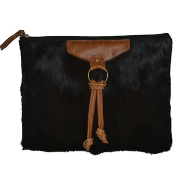 GTHOMAS Sprinbok Hide Clutch Bag