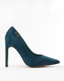 Sissy Boy V-Vamp Stiletto Courts Teal