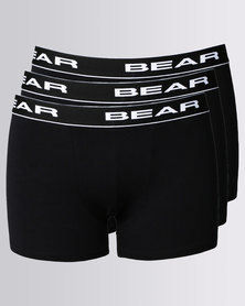 Bear 3 Pack Bodyshorts Black