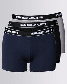Bear 3 Pack Bodyshorts Black/Navy/Grey