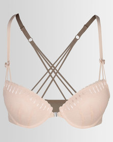 Thabooty's Figure out T-shirt Bra Peach