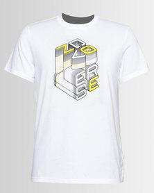 Converse  3D Wordmark Tee White