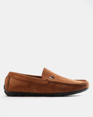 Utopia Mens Pony Casual Drivers Brown