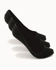 New Look T Pack 3PP Invisible Socks Black