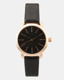 New Look Open Shoulder Watch Matte Case Black