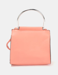 New Look Metal Circle Handle Crossbody Light Coral