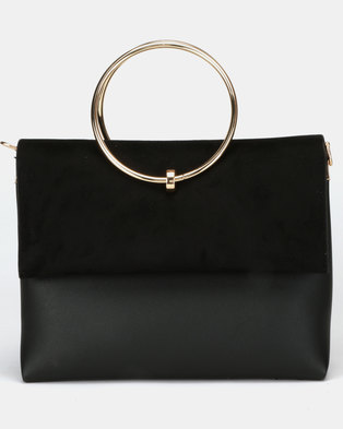 New Look Matilda Metal Handle Bag Black