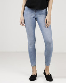 New Look Blue High Waist Super Skinny Hallie Jeans Blue