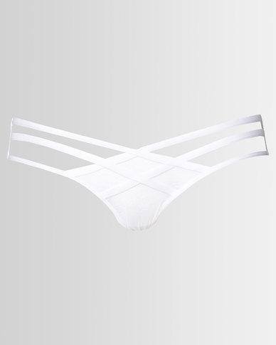 7fcd0565a04 New Look Strappy Lace Brazilian Briefs White | Zando