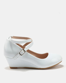 Rock & Co Leela Glamour Wedges White
