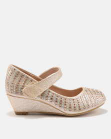 Rock & Co Lola Glamour Wedges Gold