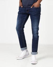 Duck & Cover Harlequin Slim Fit Jeans Dark Wash