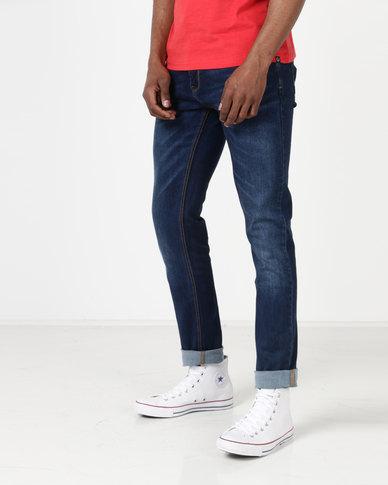 Duck & Cover Pekin Skinny Jeans Dark Wash