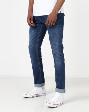4a3a04964218 Duck & Cover Pekin Skinny Jeans Stone Wash