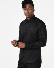 Duck & Cover Raginald Tailored Fit Shirt Black