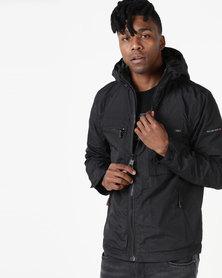 Duck & Cover Rhombus Lightweight Lined Jacket Black