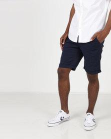 Bellfield Charlie Chino Shorts Navy
