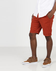 D-Struct Miko Chino Shorts Paprika Orange
