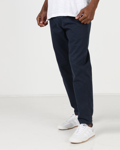 D-Struct Pontus Cropped Jogger Chinos Navy