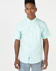 D-Struct Short Sleeve Oxford Shirt Mint