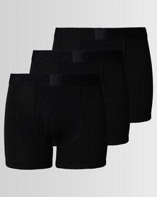 Ringspun 3pk Boxershorts Classic Black